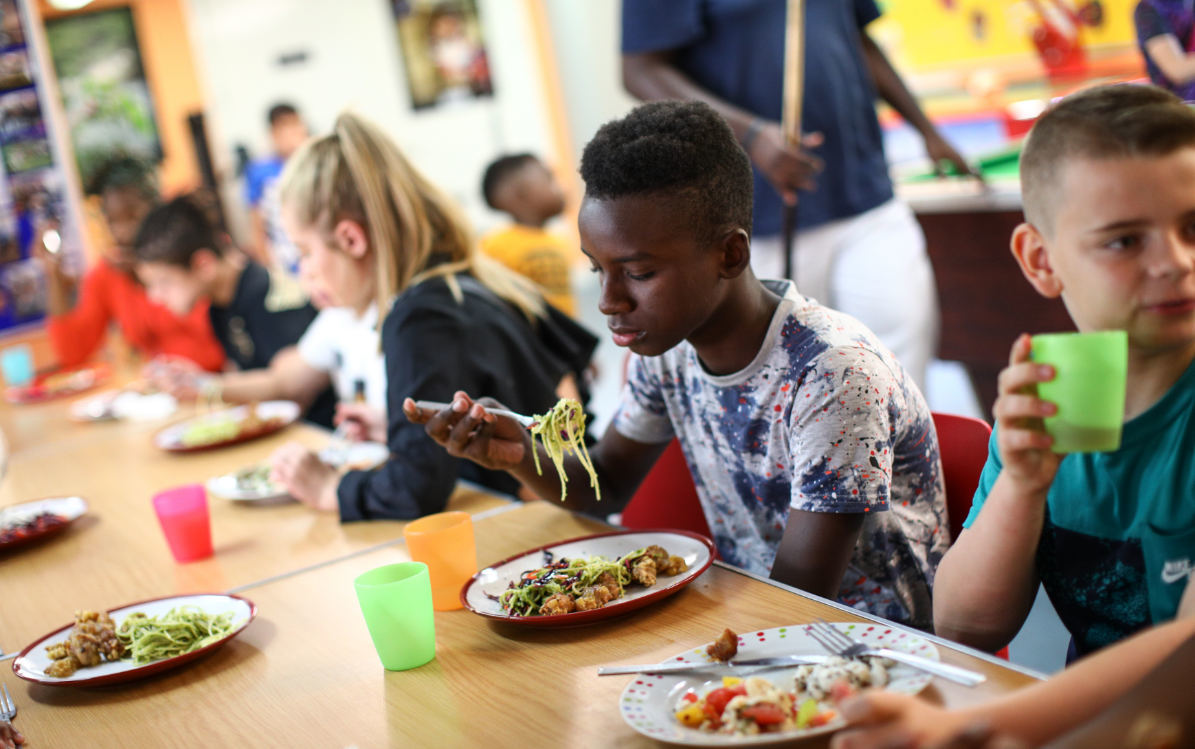 Healthy lunch at Prospex Youth Centre