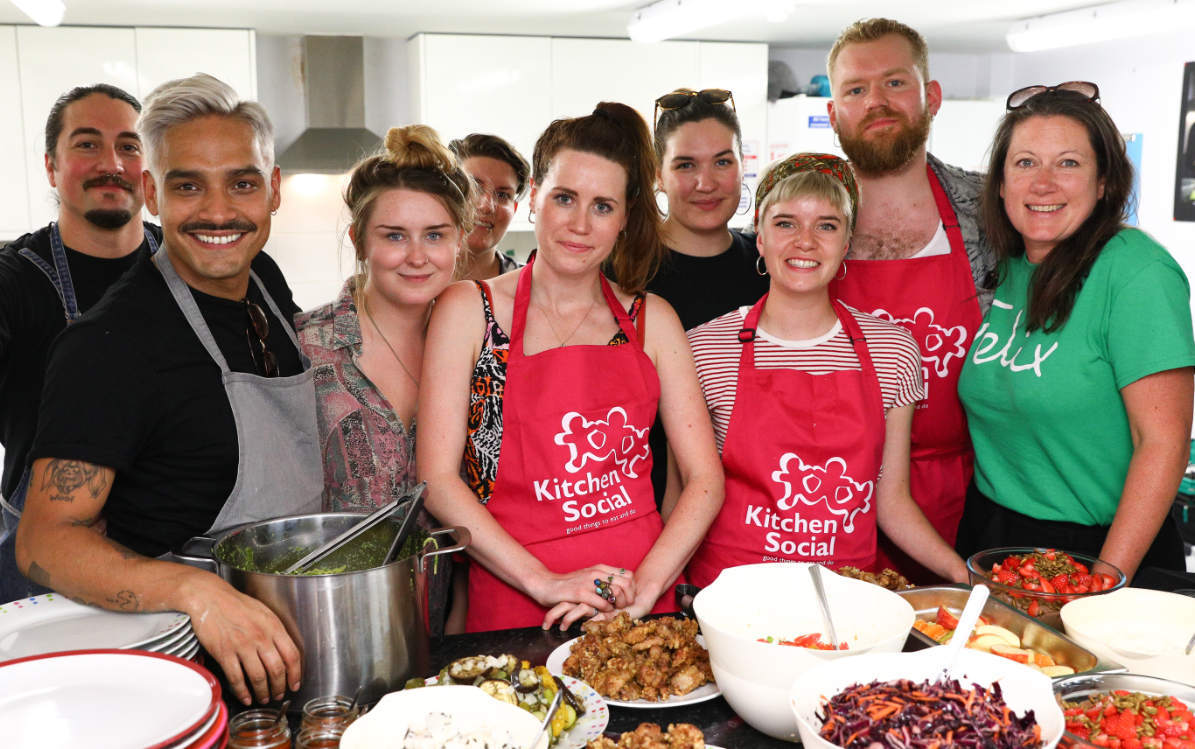 Kitchen Social organised a special lunch at Prospex Young Centre prepared by volunteers from Caravan which included fresh surplus food from The Felix Project