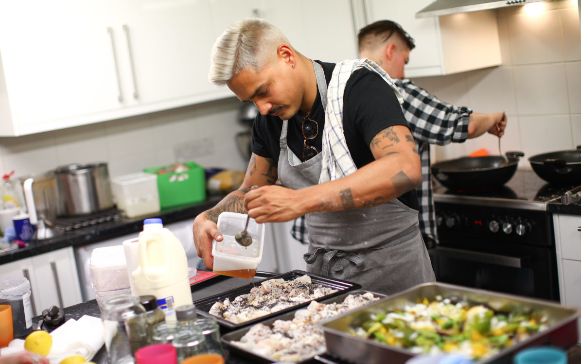 Volunteers cooking up a storm for young people at Prospex Youth Centre