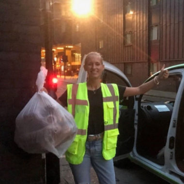 Felix Volunteer Dana Redistributing Food For Charities In London