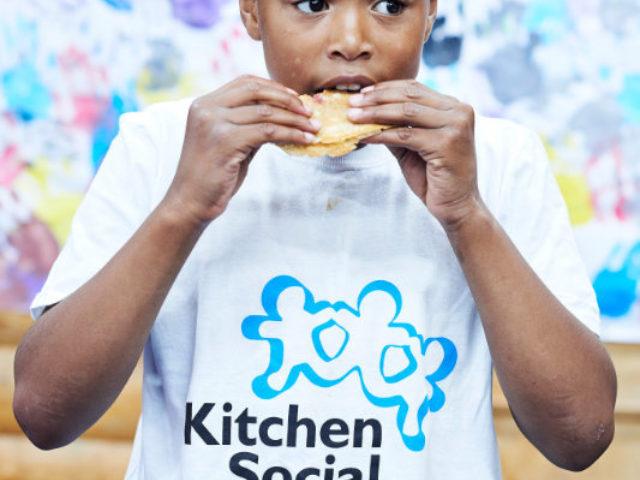 Young boy at Kitchen Social club Timbuktu Adventure Playground Islington