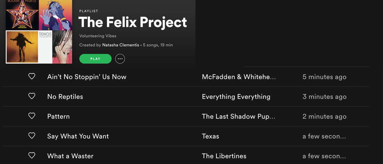Felix project playlist final spotify